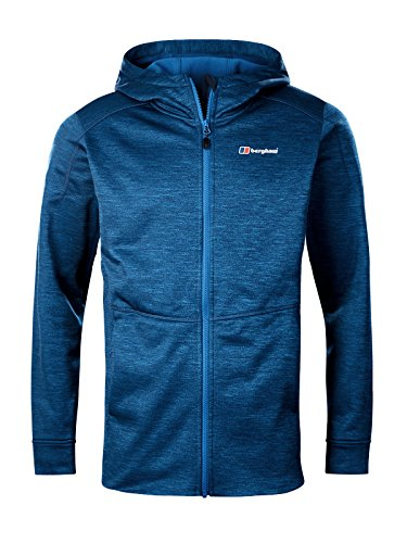 Berghaus Men's Kamloops Full Zip Fleece Jacket, Dark Snorkel Blue Marl, X-Large