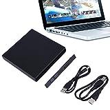 Shirylzee Tragbare USB 2.0 DVD CD DVD-Rom SATA Externe Gehäuse Slim Hülle für Laptop Netbook Notebook Desktop Macbook Laufwerk