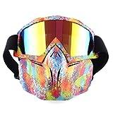 Riva776Yale Gesichtsmaske, Airsoft Maske Gesichtsmaske Paintball Maske Face CS Maske Schutzmaske für Nerf-Bunt