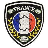 M & C Ecusson thermocollant Blason France Rugby 4 cm x 5 cm