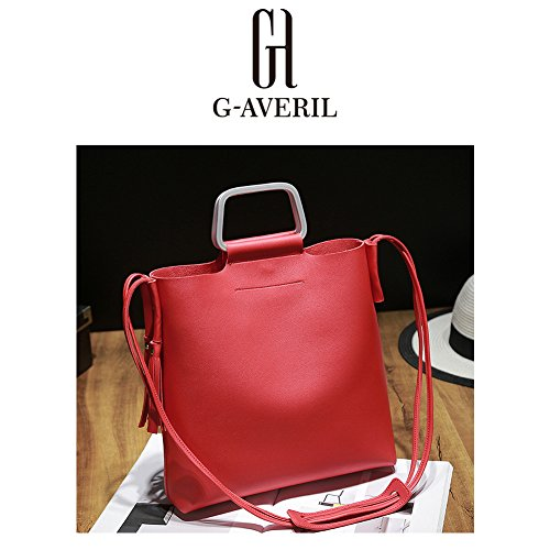 G-AVERIL, Borsa a mano uomo Rosa Pink Red