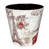 Foxom 10L Leder Vintage Mülleimer Abfalleimer Müllsammler Kinder Papierkorb für Büro/Badezimmer/Küche/Schlafzimmer (Art-4)