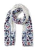 TOM TAILOR Casual Damen Trilby leichter Schal mit femininen Blumenmuster Elfenbein (Whisper White 10315) One Size (Herstellergröße: Oversize)