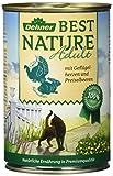 Dehner Best Nature Katzenfutter Adult Geflügelherzen und Kaninchen, 6 x 400 g