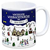 trendaffe - Aken (Elbe) Weihnachten Kaffeebecher mit winterlichen Weihnachtsgrüßen - Tasse, Weihnachtsmarkt, Weihnachten, Rentier, Geschenkidee, Geschenk