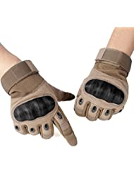 Unigear Guantes tácticos Guantes de ciclismo guantes (marrón, L)