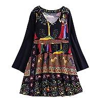 Lazzboy Tops T Shirt Women Boho Ethnic V-Neck UK 8-22 Oversized Plus Size Holiday Hippie Swing Tunic Blouse(3XL(18),Navy-Horse)