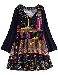 1d701efb50 MRULIC Spring Women Casual Folk l Style Print Plus Size Loose Cotton Linen  Long Tops Shirt