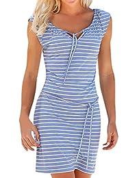Kleid blau weiss gestreift