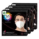 Dettol Siti Shield N95 Protect Plus Anti Pollution Smart Mask Family Pack (2 Large, 1 Medium, 1 Small)