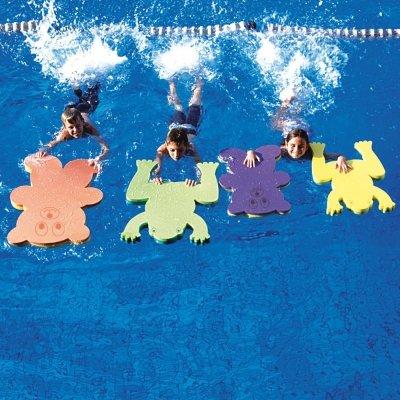 NEW pour piscine Formation Polyéthylène Bain flotte Grenouille & Teddy Planche Jade/Green Sénior