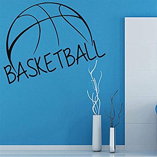 Autocollant de basket-ball Sports Sticker Muurstickers Affiches Vinyle Stickers Muraux Pegatina Décor Peinture Murale Autocollant De Basket-ball gris 58x72cm