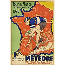 f52d9a37f9 Tour De France 1925 Targa di Latta Poster Metallo Segno Curvato Targhe  Metallo 20x 30 CM