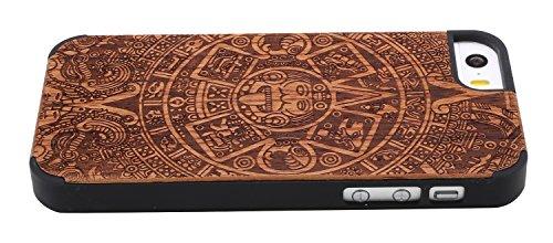 SunSmart Apple iPhone 5/5s cas Bois peau de couverture de protection pour iPhone 5 5s--12 08