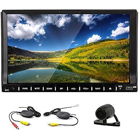 Android 4.4 Doble Din de 7 pulgadas en el tablero de coches reproductor de DVD Radio HD de pantalla t¨¢ctil capacitiva GPS