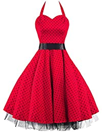Pretty Kitty Fashion - Robe - Rouge et Pois Noir