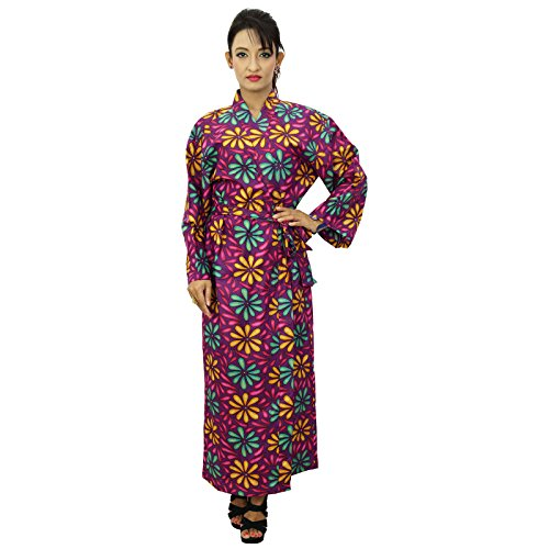 Obtenir Robes Kimono Coton Robe Demoiselle D'Honneur Prêt pourpre