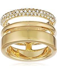 Joop! Damen-Ring Vergoldet Glas weiß - JPRG00004B1