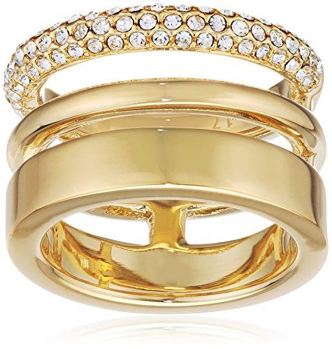 Joop! Damen-Ring Vergoldet Glas weiß Gr. 56 (17.8) - JPRG00004B180