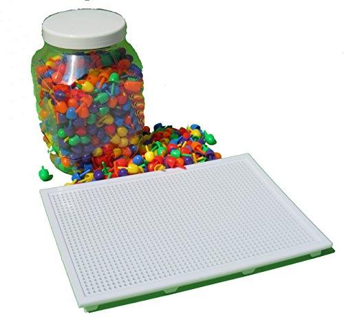 Preisvergleich Produktbild Steckspielzeug Steckspiel ca.750 Steckknöpfe & 2 Platten 2471298-1301