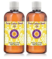 Deve Herbes Pure Cotton Seed Oil - Pack of Two (100ml + 100ml) Gossypium Spp 100% Natural Cold pressed