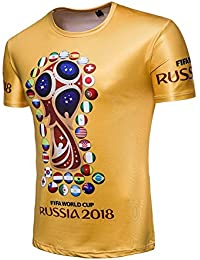 BEBIG Unisex 2018 FIFA World Cup Russia Soccer National Teams Commemorate T- Shirt df1748404