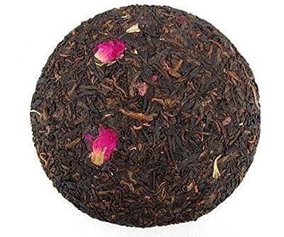 Fleur rose mélangée au gâteau au thé Pu erh 400 grammes