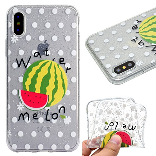 Cover per iPhone X Custodia Silicone , YIGA Piccolo panda Cover Cristallo Trasparente Guscio Silicone Morbido TPU Case Soft Shell Skin Protezione Custodia per Apple iPhone X (5.8) MM55