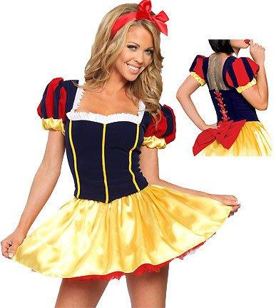 Sexy Kostüm Schneewittchen Märchen - DLucc Halloween Cosplay Kleidung Disney Märchen Schneewittchen Kleid Kostüme Kostüme