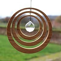 Fenster Deko zum Aufhängen | Exzentrik aus Holz | Regenbogenkristall | Fensterschmuck | Exzentrik Fensterdeko | Geschenkidee