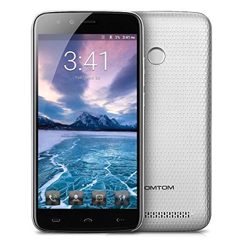 HOMTOM HT50 - 4G Smartphone ohne Vertrag, 5.5 Zoll, Android 7.0, MTK6737 1.3GHz Quad-Core, 3GB RAM 32GB ROM, Fingerprintsensor ID, Dual Kamera, Dual SIM, Dual Standby (Silber)