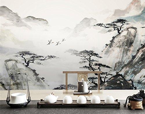 Wongxl Murals Wallpaper Wallpaper Chinesische Klassische Atmosphäre Tinte Landschaftsmalerei Im Wohnzimmer Schlafzimmer Tv Wand 3D Tapete Hintergrundbild Fresko Wandmalerei Wallpaper Mural 200cmX150cm