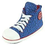 Home Slipper Schick Sneaker Hausschuhe Angenehm Hausstiefel mit dem Flachabsatz für Herren Mosaik Muster Blau
