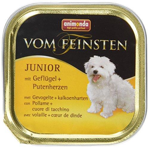 Animonda vom Feinsten Junior 82621 Geflügel+Putenherzen 22 x 150 g Schale – Hundefutter - 2
