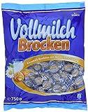 Vollmilch Brocken - Karamellbonbons mit leckerer Füllung aus Vollmilch Creme - (5 x 750g Beutel)