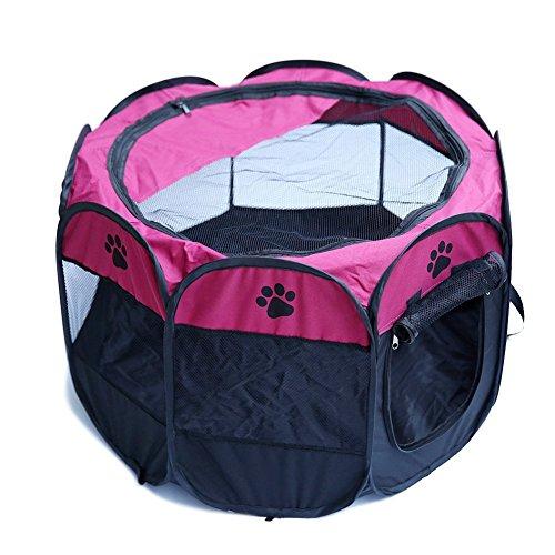 owikar Oxford Pet Laufgitter, 8Seitenteile tragbar klappbar Wasserdicht strapazierfähigem Hundehütte 600D Oxford Zelte Transportkäfig Zaun für Hund Katze Kaninchen Puppy Pet (Sarg Autos)
