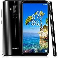 Homtom S8 Smartphone Libre, 4G Teléfono Inteligente(5.7 Pulgadas 720 x 1440 pixel HD Pantalla, MTK6705T Octa Core 1.5GHz, 4GB RAM + 64GB ROM,Android 7.0, 16.0MP y 5.0MP + 13.0MP Tres Cámara), Negro