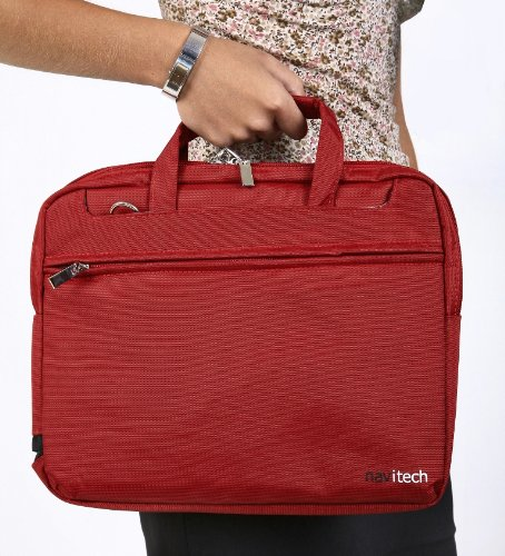 Navitech's Ruby Red Rouge Sleek Genuine Premium