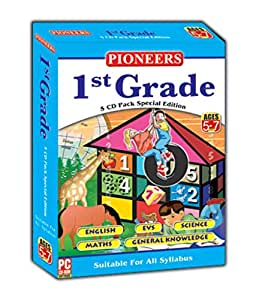 PIONEERS GRADE- 1 English EVS Science Maths GK CD (Pack of 5) Universal Syllabus