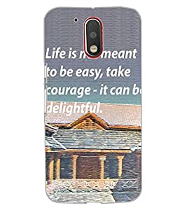 ColourCraft Quote Design Back Case Cover for MOTOROLA MOTO G4 PLUS