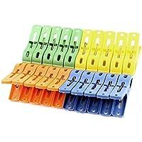 DealMux ropa plásticos secado Peg Pinza abrazadera del clip 20pcs color clasificado