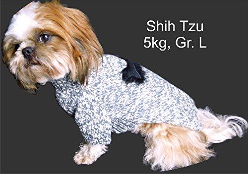 Schwarzer Strickpulli XXL mit Knochen für Hunde – Stark reduziert – Dogs Stars - 4