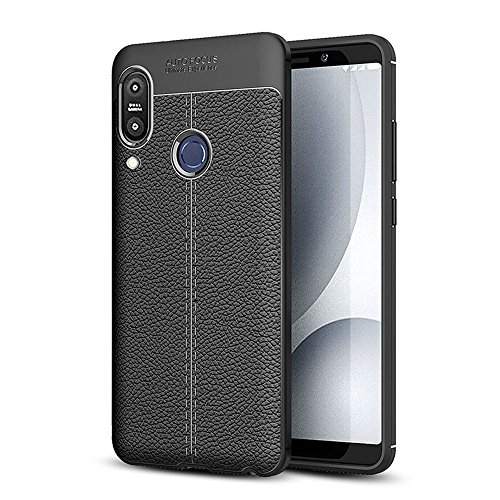 CareFone Back Cover for Asus Zenfone Max Pro M1 (Black, Shock Proof, Rubber)