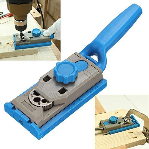 Pocket Jig-Loch-System-Set, Bohrvorrichtung, Taschenlochbohrer, Holzbearbeitungsbohrer, rund, Zapfenlokator -