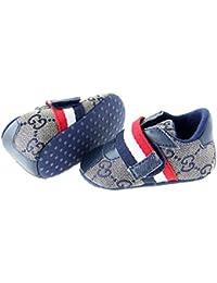 Dantiya(bebe)Zapatos,primer paso antideslizante algodon plantilla suave,Velcro color