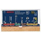 Bosch rbs0061/4-Zoll-Schaft Hartmetallbestückt Mehrzweck-Router Bit Set, 6-tlg.