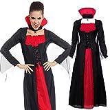 Maboobie - Disfraz de vampiresa Drácula para Mujer Talla Unica Fiesta Temática Carnaval Halloween