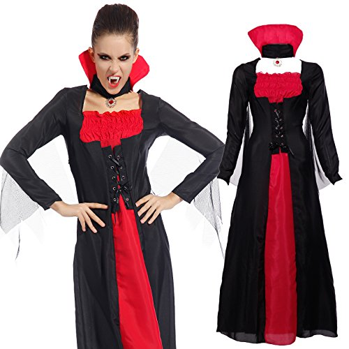Imagen de maboobie  disfraz de vampiresa drácula para mujer talla unica fiesta temática carnaval halloween