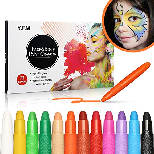 Y.F.M 12 Colores Pinturas Faciales y Corporales