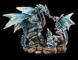 Drachen Figur - Mutter mit zwei Jungtieren